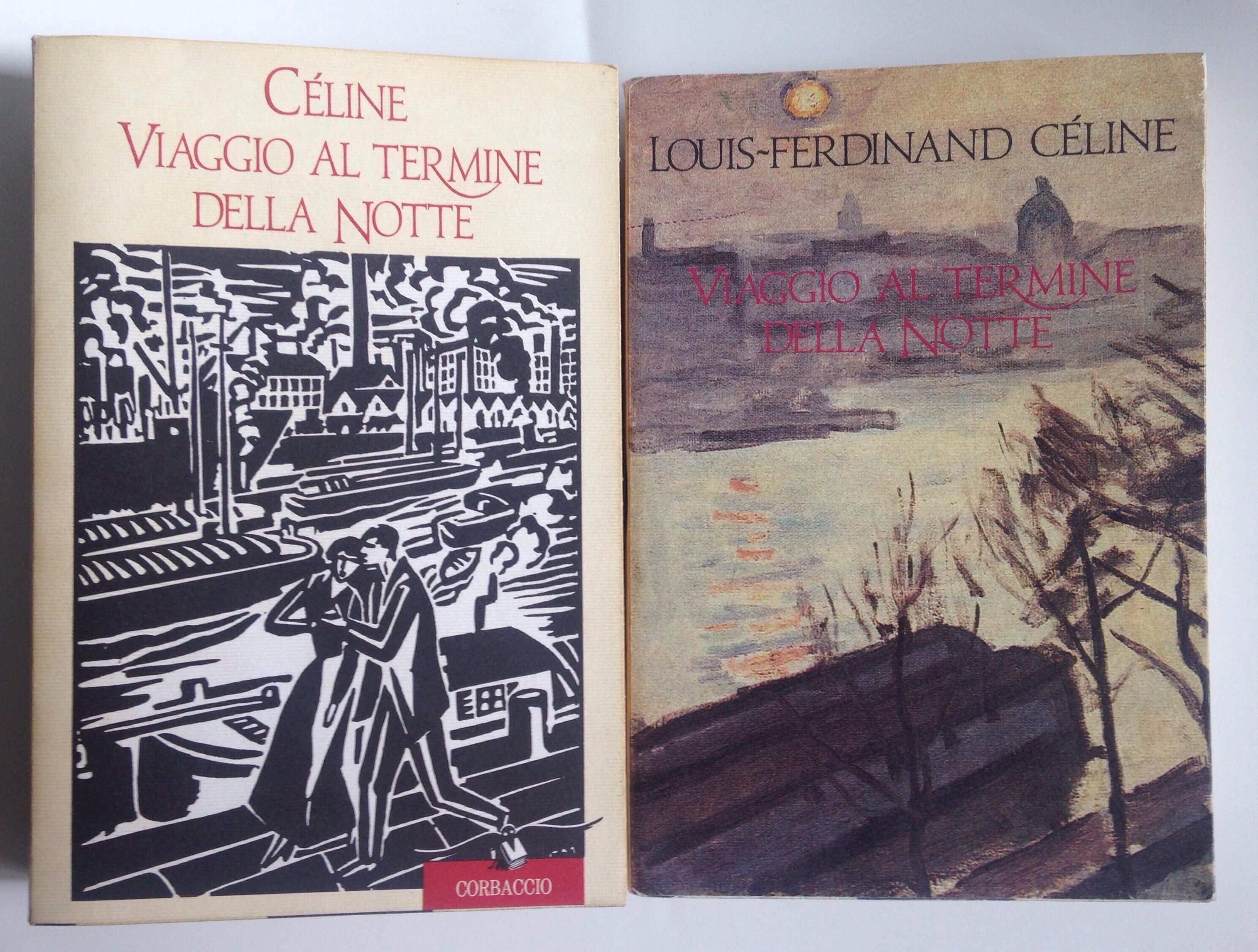 """Una copertina sconosciuta di """"Viaggio al termine della notte"""" di Céline"""