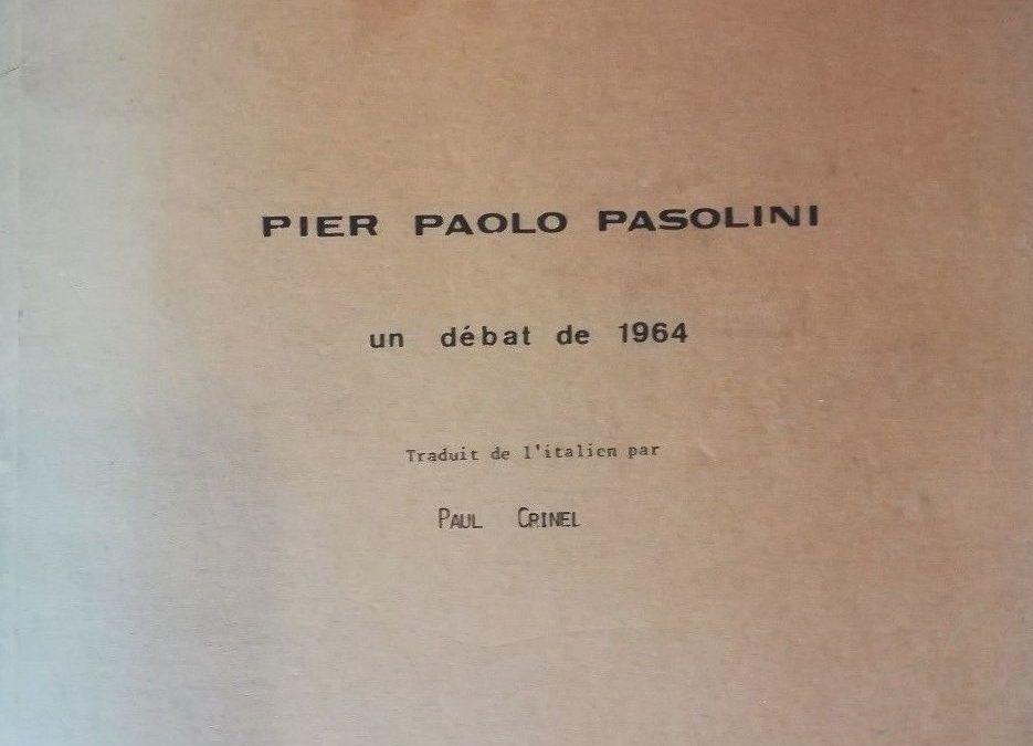 """…su eBay c'è """"Un débat de 1964"""", di Pier Paolo Pasolini"""