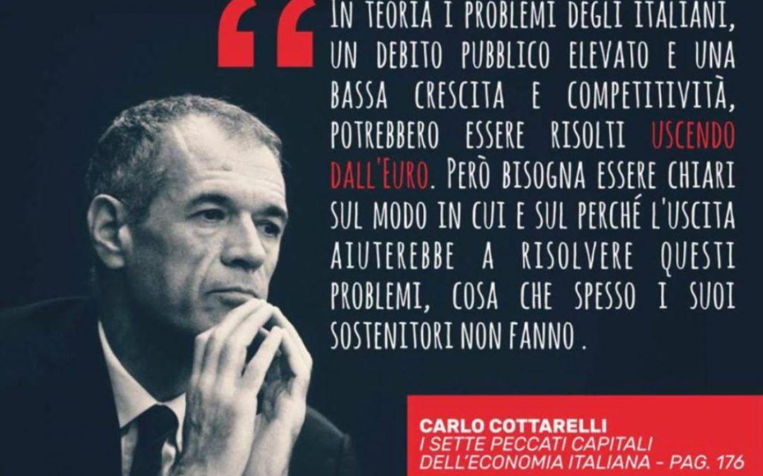 """""""I sette peccati capitali dell'economia italiana"""" di Carlo Cottarelli è un libro anti-euro?"""