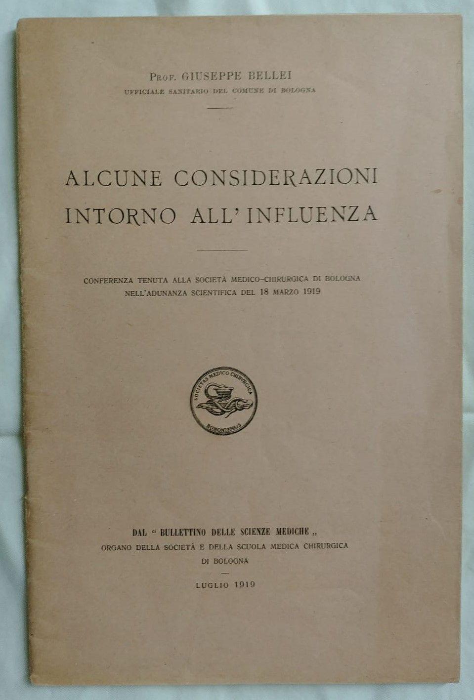 """Il mistero dell'influenza detta """"Spagnola"""" in due rari opuscoli del 1919"""