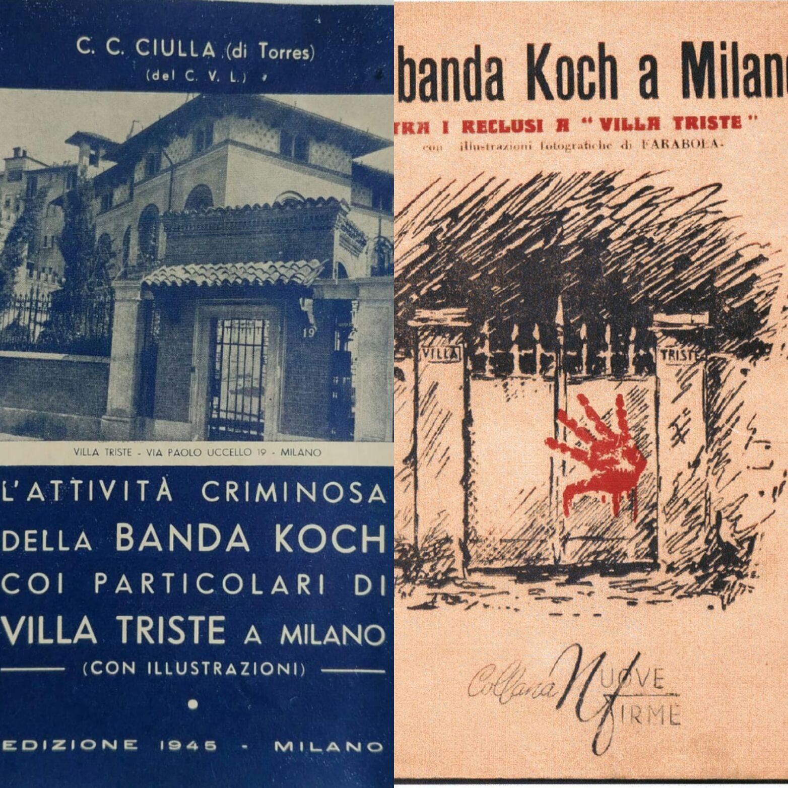 """Due rarissimi instant book sulla famigerata """"Banda Koch"""" di Milano"""
