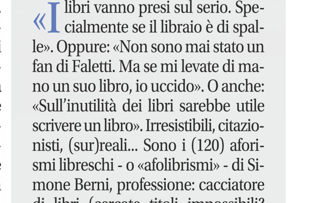 """""""Afolibrismi"""" di Simone Berni – il primo della nuova casa editrice"""
