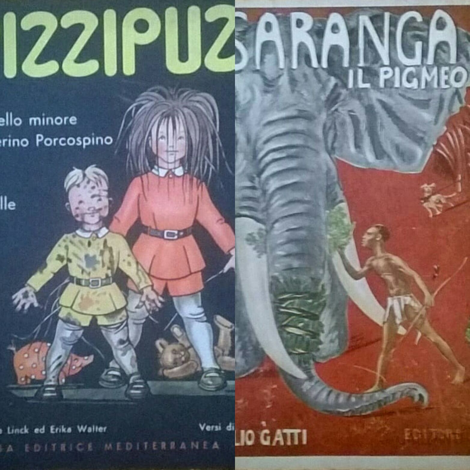 """Pizzipuzzi"" e ""Saranga il pigmeo"" in bancarella"