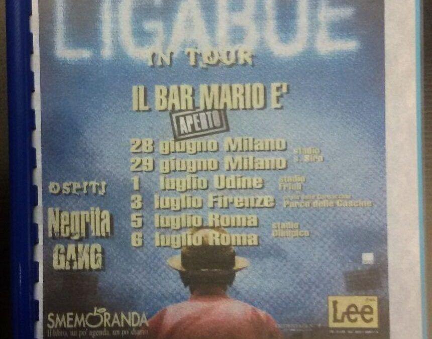 """…su eBay c'è il tour book """"Il Bar Mario è aperto"""" di Ligabue"""