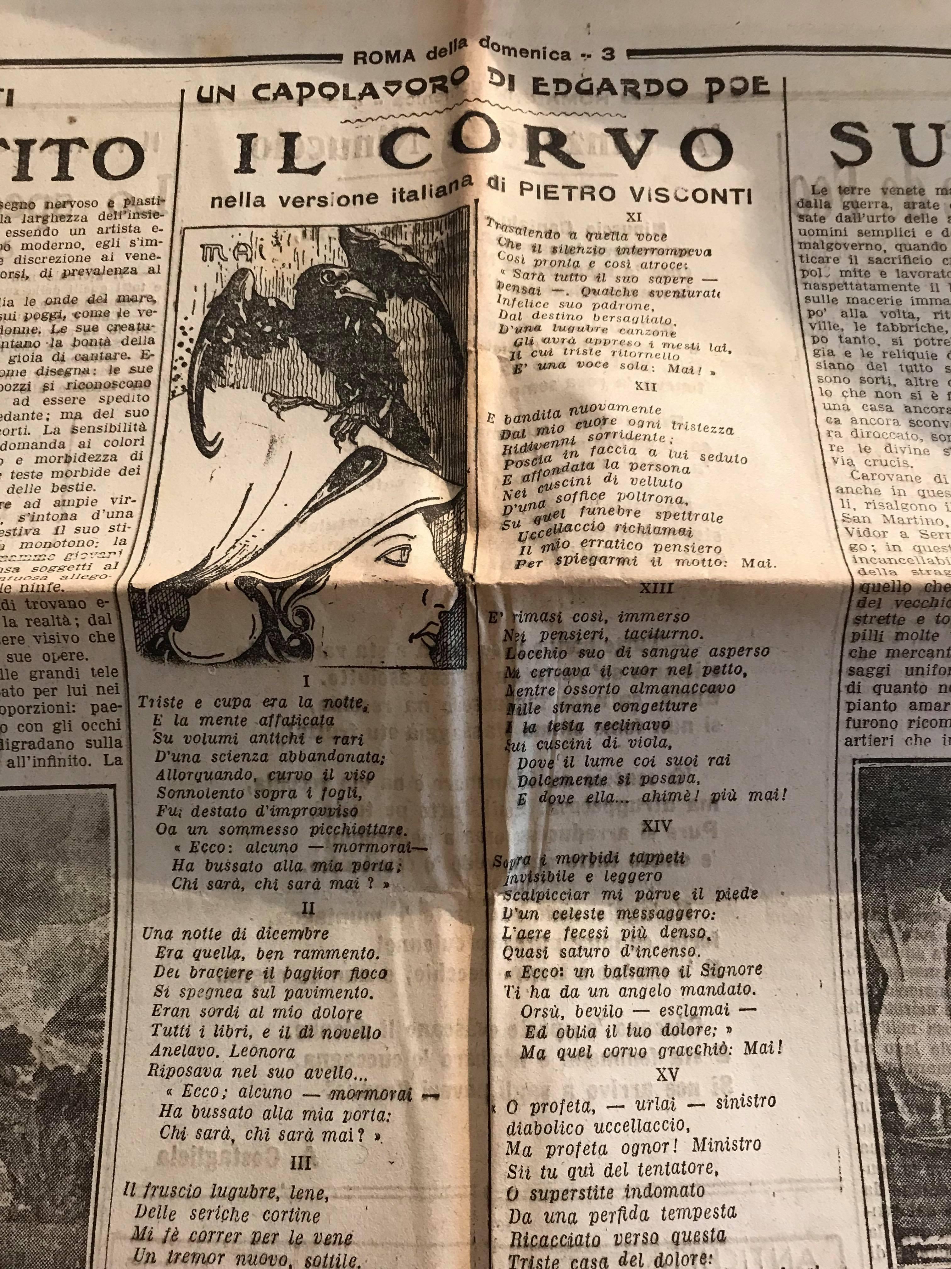 """Un'edizione sconosciuta de """"Il Corvo"""" di Edgar Allan Poe trovata al mercatino!"""