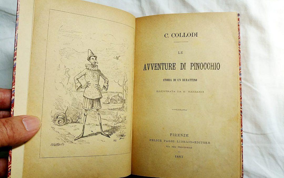 """Ops! """"Le avventure di Pinocchio"""" di Carlo Collodi in prima edizione a 20 €"""