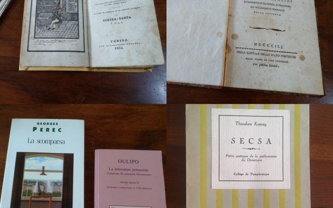 Quei libri scritti senza mai usare la lettera R, oppure la E: dalla boutade al lipogramma!
