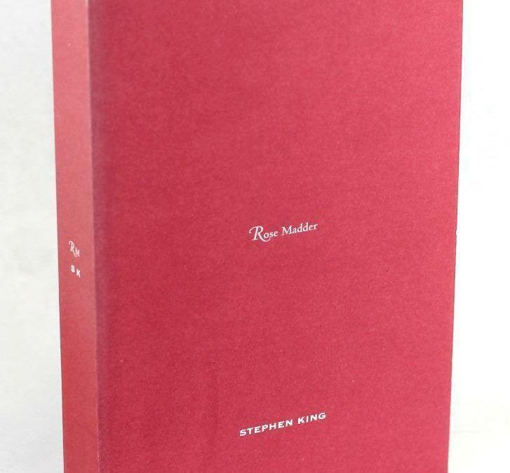 """Da non perdere per i fan di Stephen King: la uncorrected proof di """"Rose Madder"""" a 90 €"""