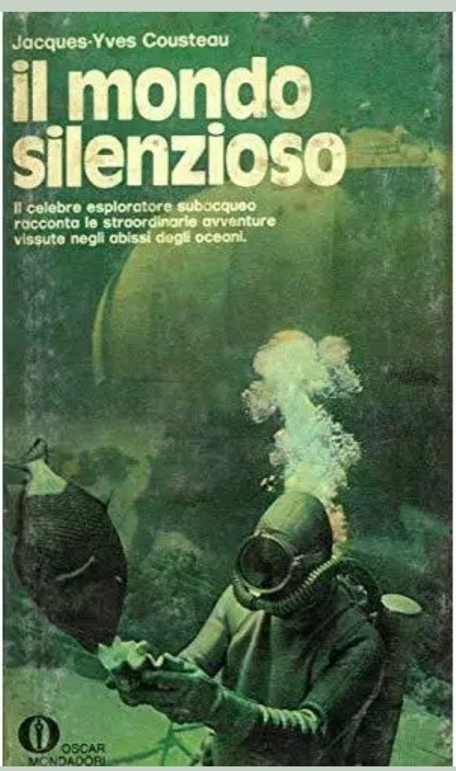 """""""Il mondo silenzioso"""" di Jacques-Yves Cousteau in bancarella"""