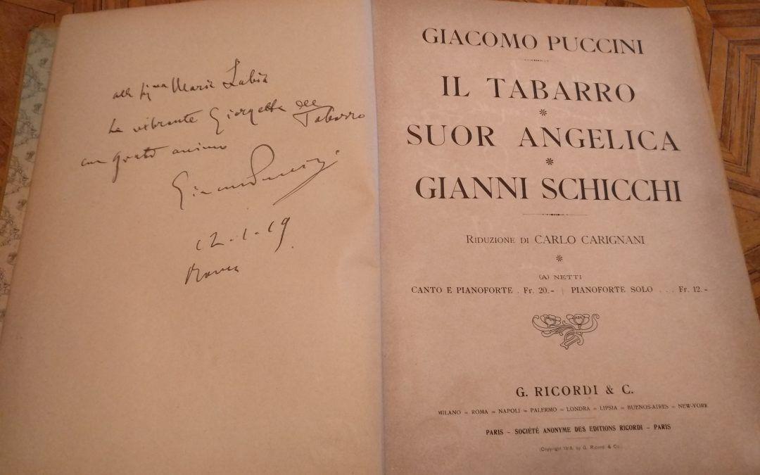Un bella dedica autografa di Giacomo Puccini alla cantante Maria Labia