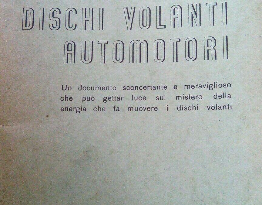 "…su eBay c'è ""Dischi volanti automotori"" di Elia Nitti"