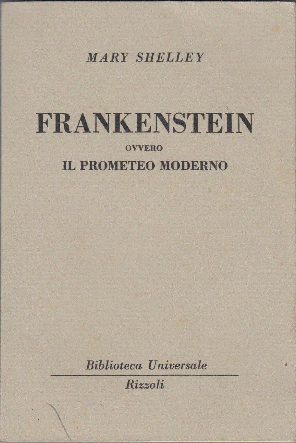 """La seconda edizione italiana (1952) del """"Frankenstein"""" di Mary Shelley a 8 €"""