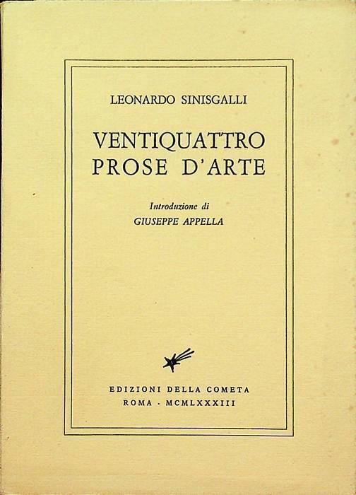 """""""Ventiquattro prose d'arte"""" di Leonardo Sinisgalli"""