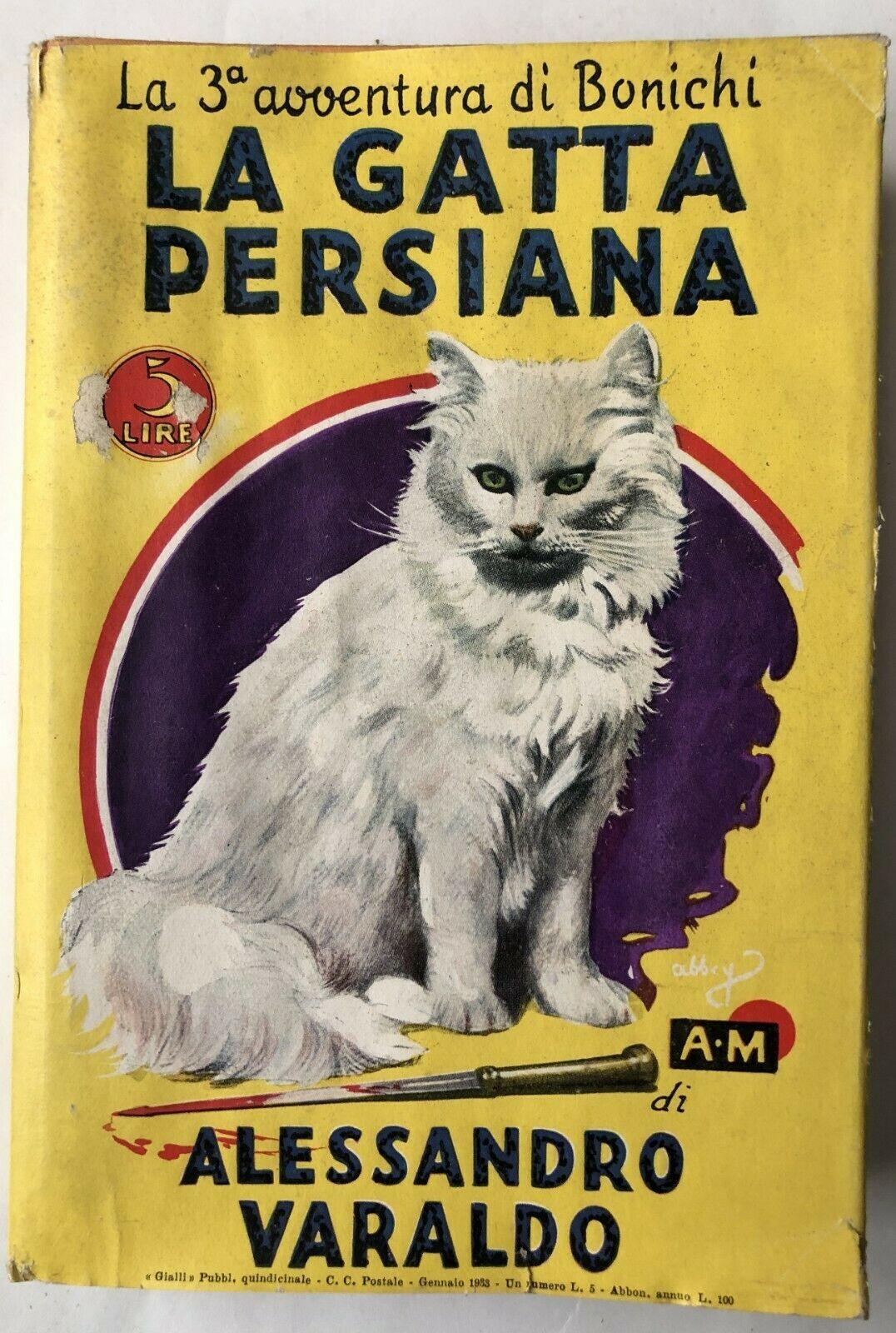"""""""La gatta persiana"""" di Alessandro Varaldo in scadenza l'asta su eBay: rarissimo"""