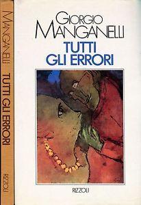 """""""Tutti gli errori"""" di Giorgio Manganelli al mercatino"""