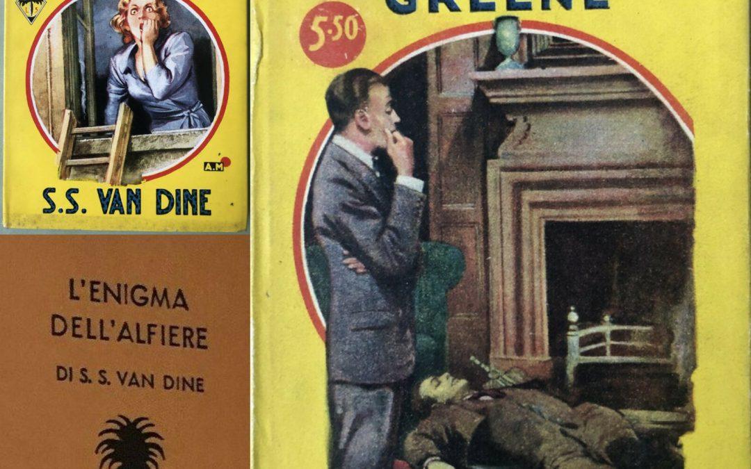 "Tre ""Palmine"" Mondadori originali anni '30 firmate S. S. Van Dine!"