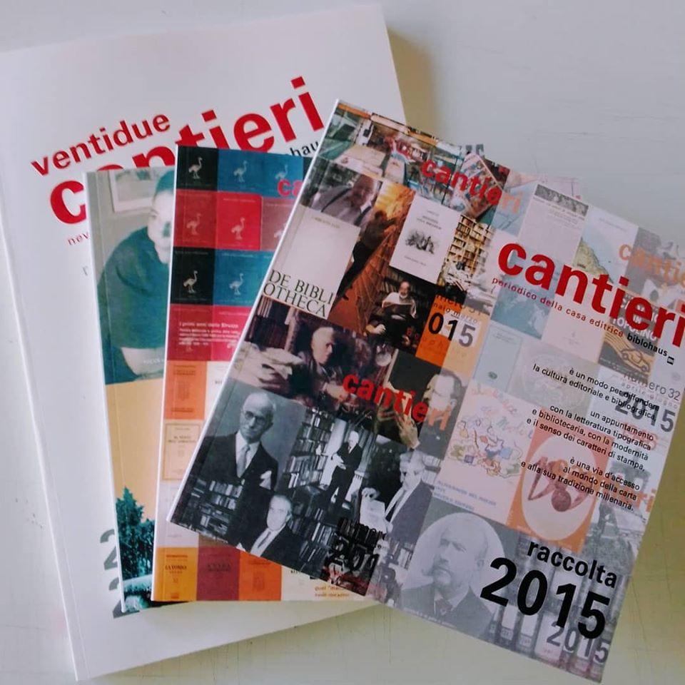 """Tutto """"Cantieri"""" in 4 volumi: questa la novità 2020 di Biblohaus in risposta al Coronavirus"""