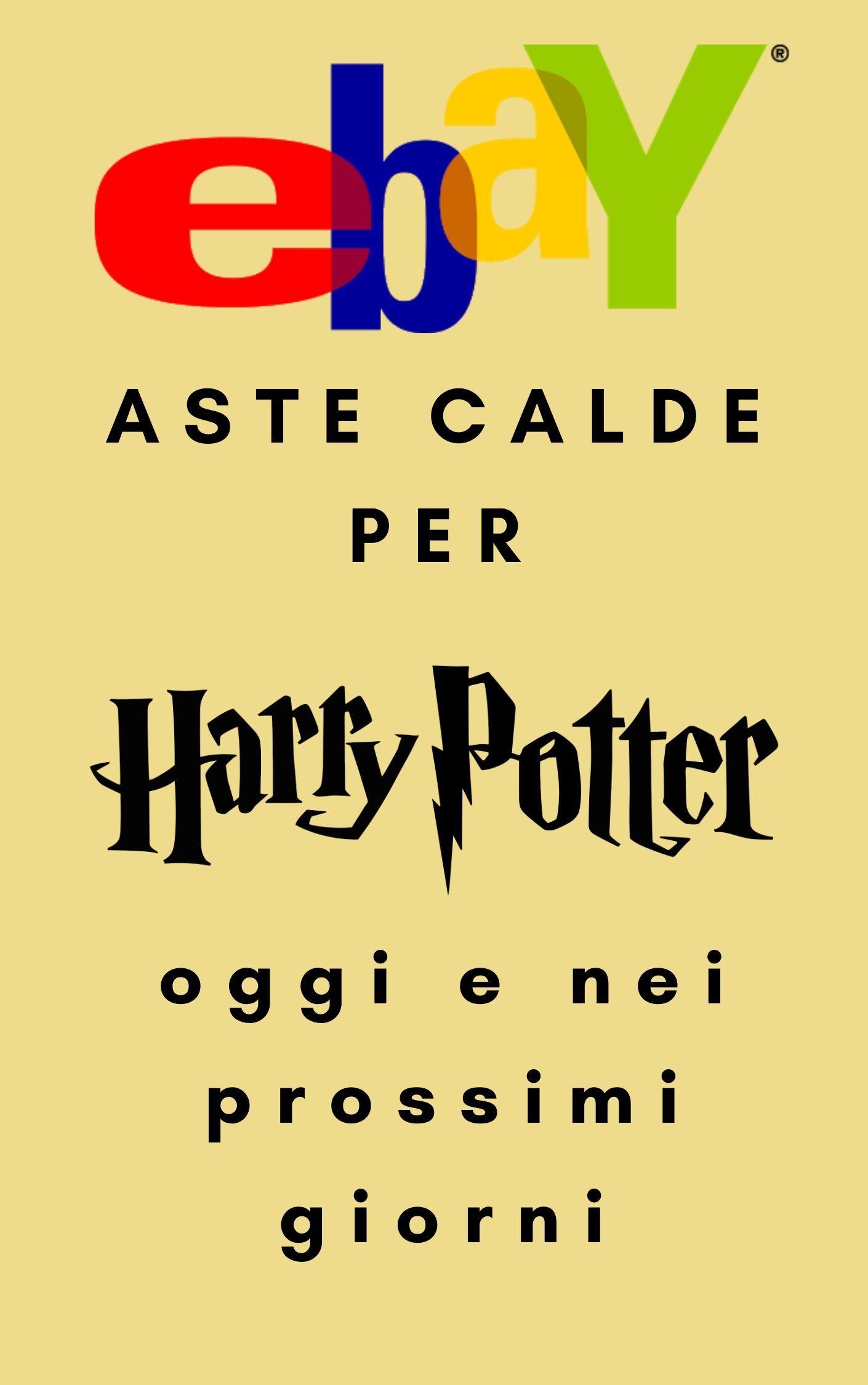 "Aste calde su eBay per ""Harry Potter"" in scadenza 6 & 7 Aprile 2020"