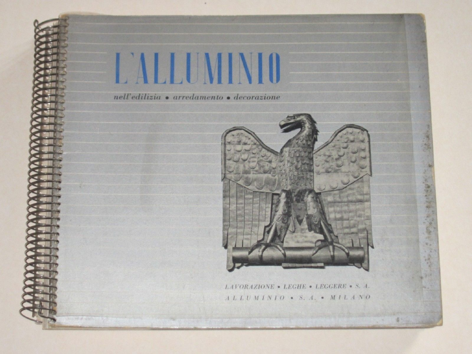 """…su eBay c'è il catalogo """"L'alluminio"""" – """"Futurismo"""" con spirale!"""