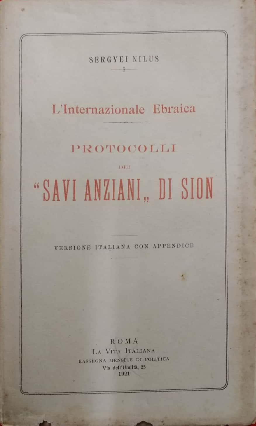 """I """"Protocolli dei Savi Anziani di Sion"""" al mercatino"""