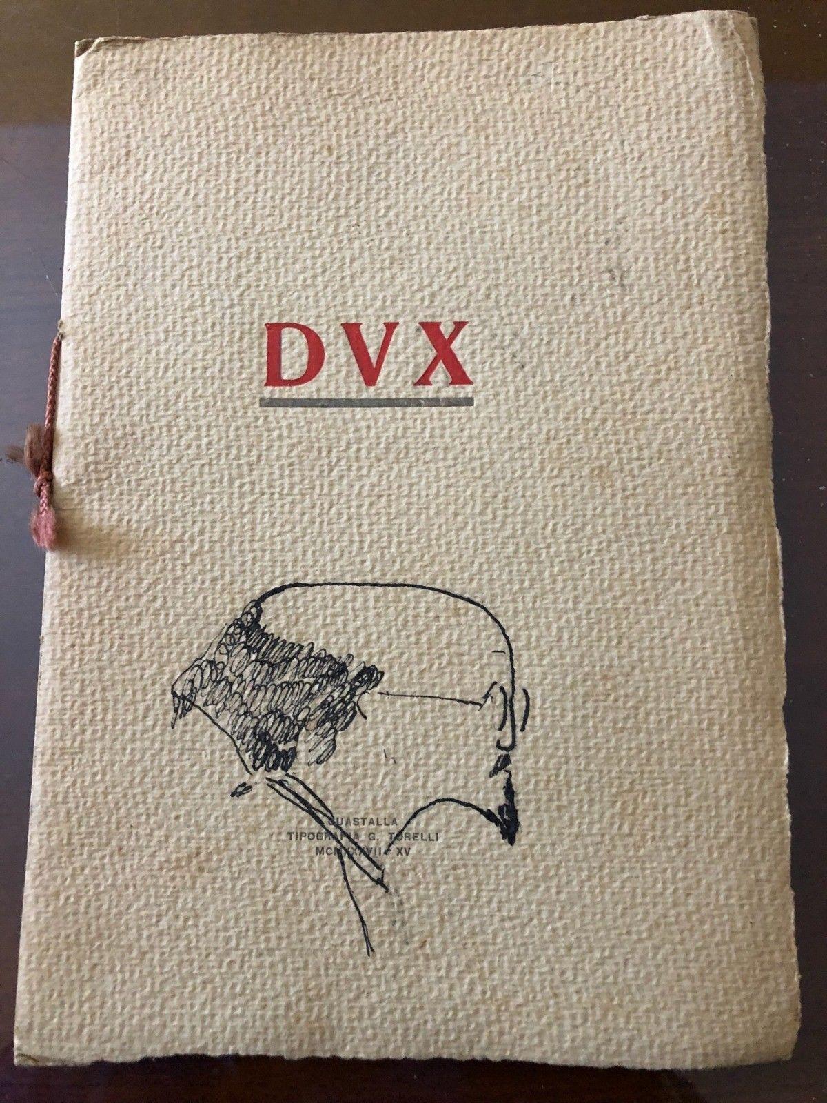 …su eBay c'è in asta un raro libro sul Duce Benito Mussolini