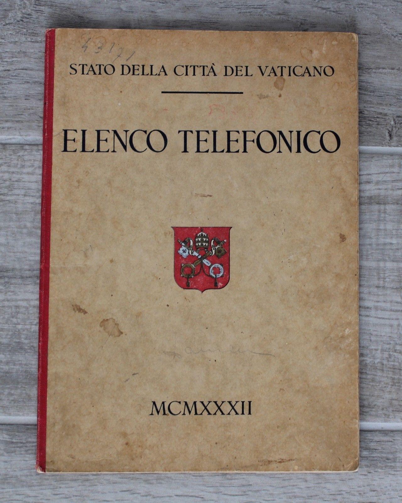 …su eBay c'è l'elenco telefonico per l'anno 1932 di Città del Vaticano