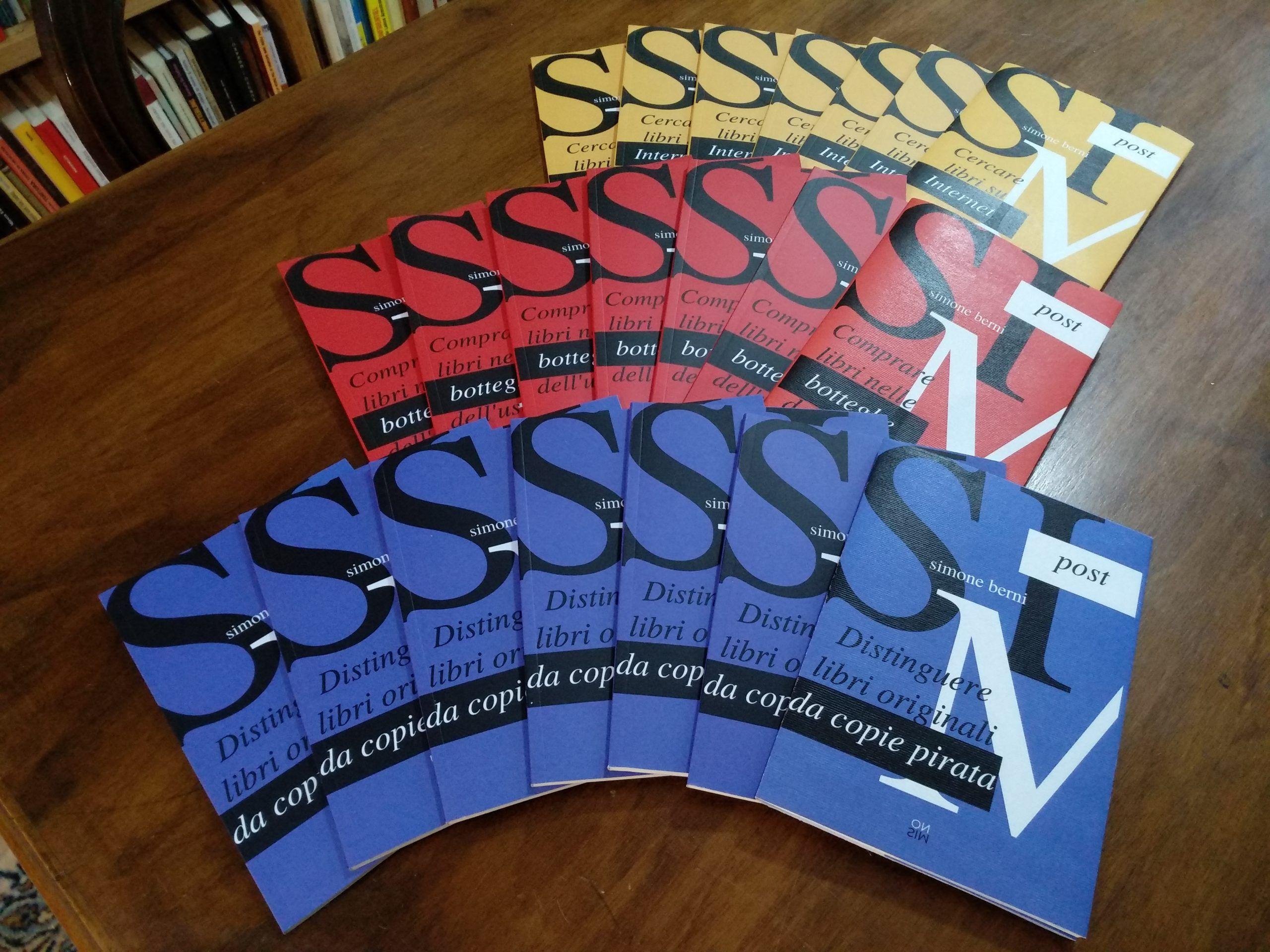 Edizioni SimOn: escono tre mini-guide per l'aspirante cacciatore di libri