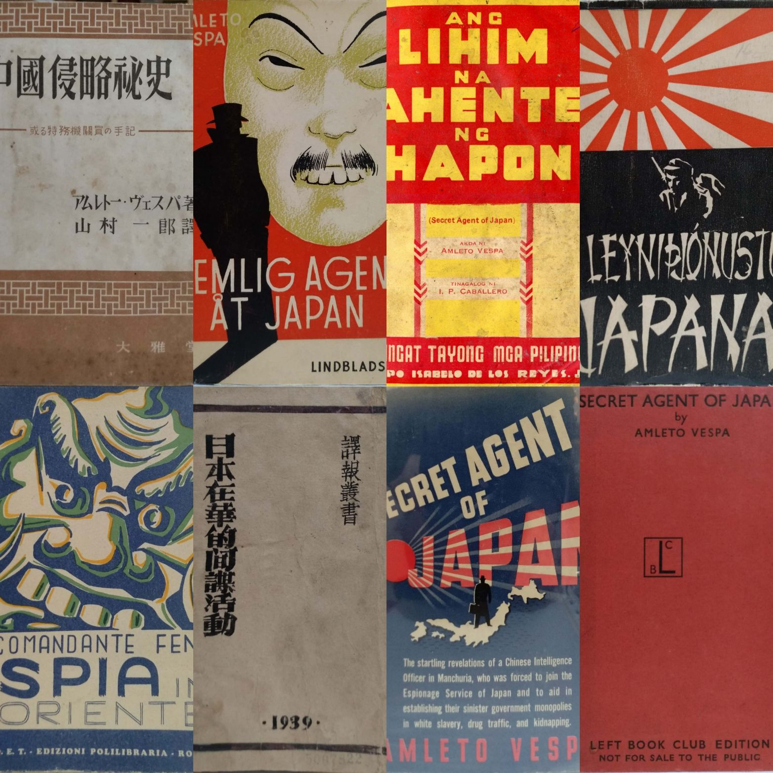 Amleto Vespa, spia italo-cinese, e le edizioni del libro che causarono la sua morte