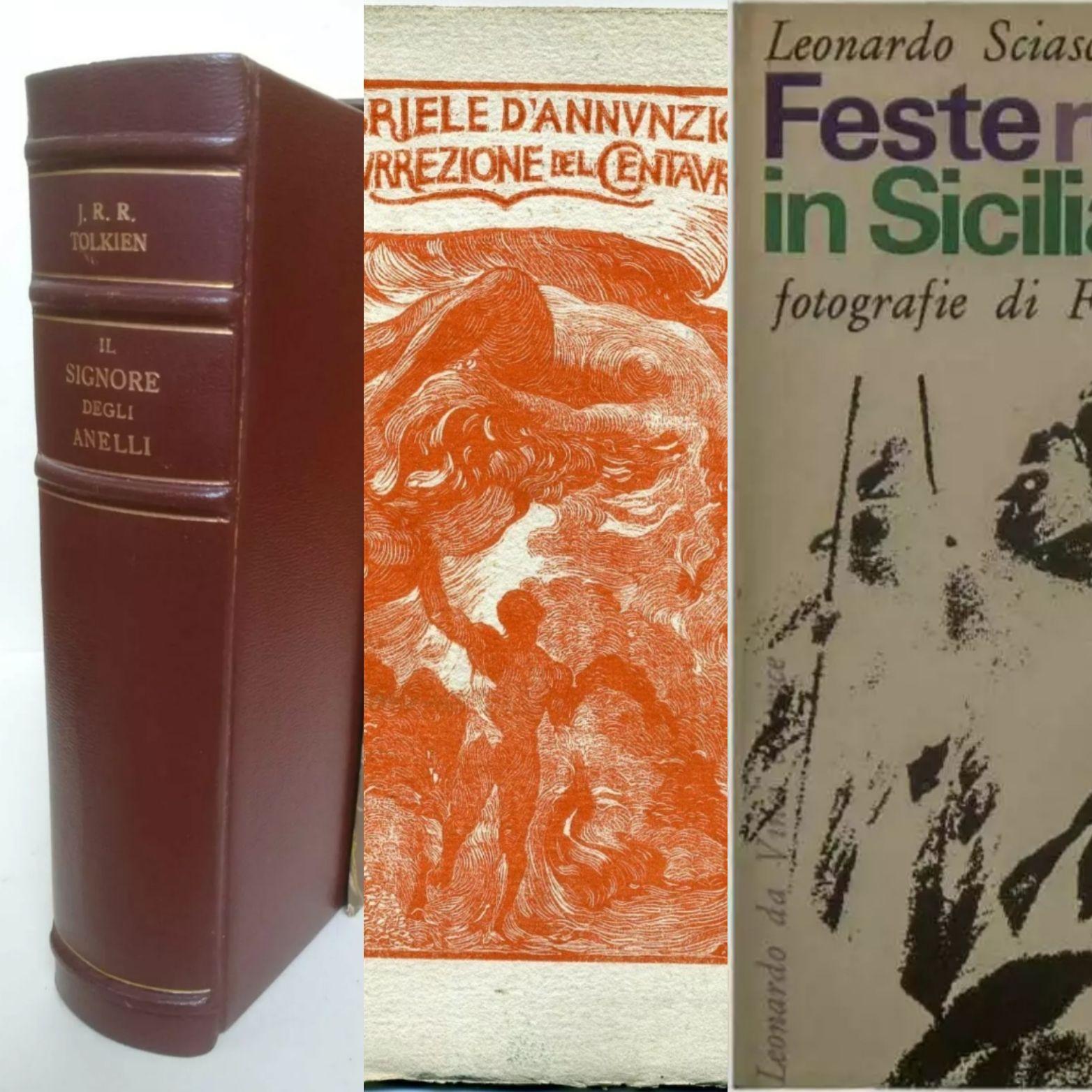 """Le 3 aste su eBay più """"calde"""" del momento: Tolkien, D'Annunzio e Leonardo Sciascia!"""