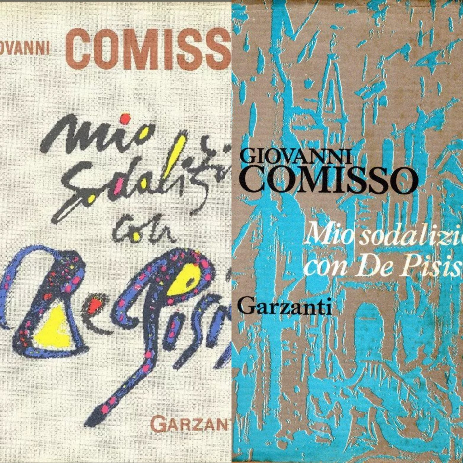 """""""Mio sodalizio con De Pisis"""" di Giovanni Comisso: due prime edizioni?"""
