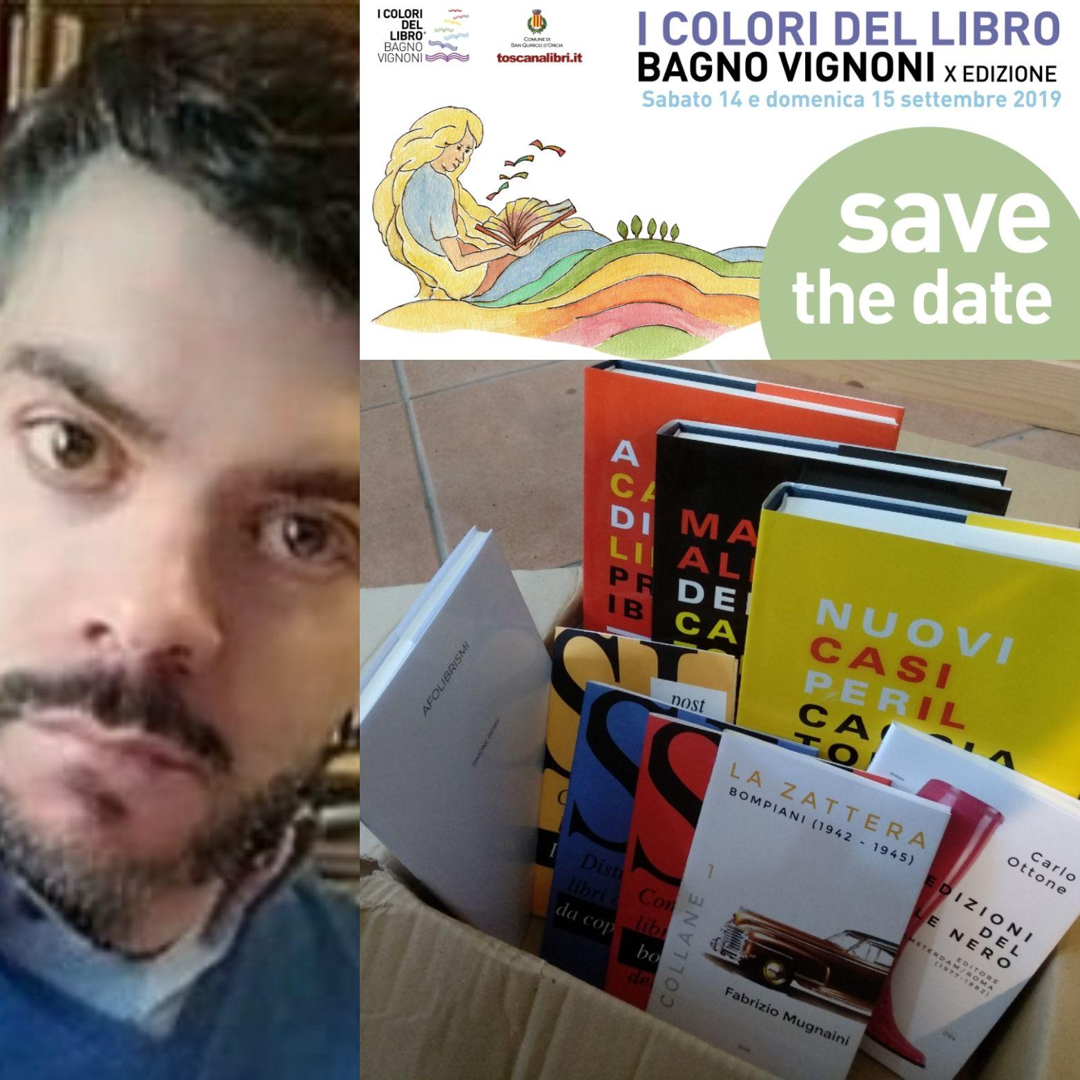 """""""Tutta la produzione"""" del cacciatore di libri alla Mostra-Mercato di Bagno Vignoni"""