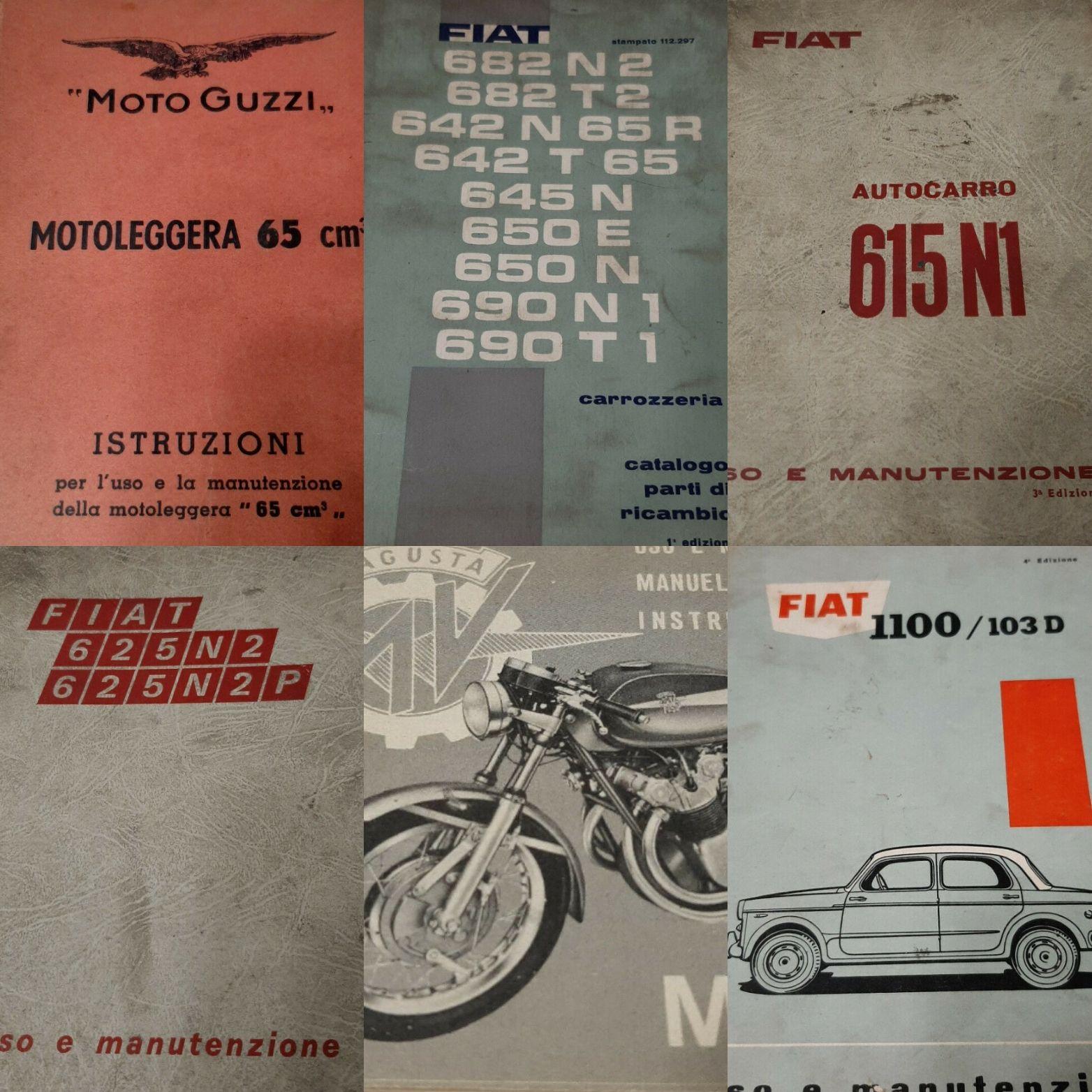 Manuali di manutenzione di auto, moto e autocarri: non c'è limite al raro!