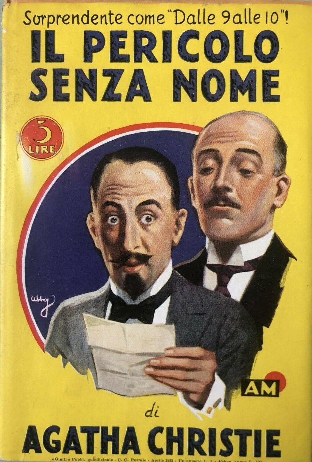 """""""Il pericolo senza nome"""" di Agatha Christie (originale 1933): raro!"""