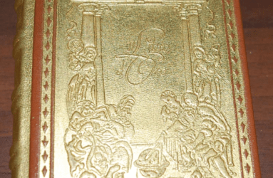"""""""Il cammino dell'uomo"""" è un libro con 23 grammi di oro puro: una copia in vendita a un prezzo che stupisce!"""
