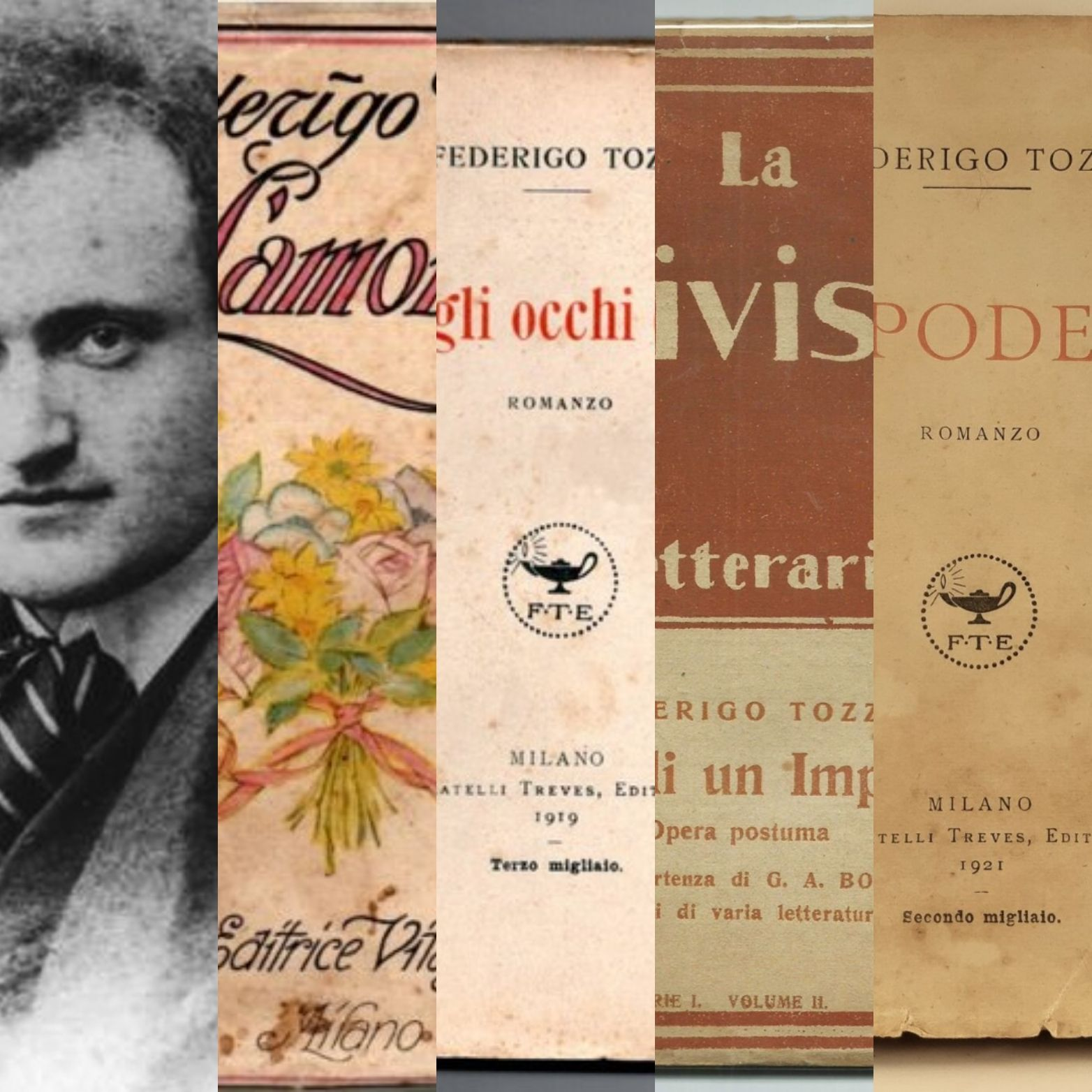 Cento anni fa moriva Federigo Tozzi, uno dei più grandi narratori del Novecento: i libri