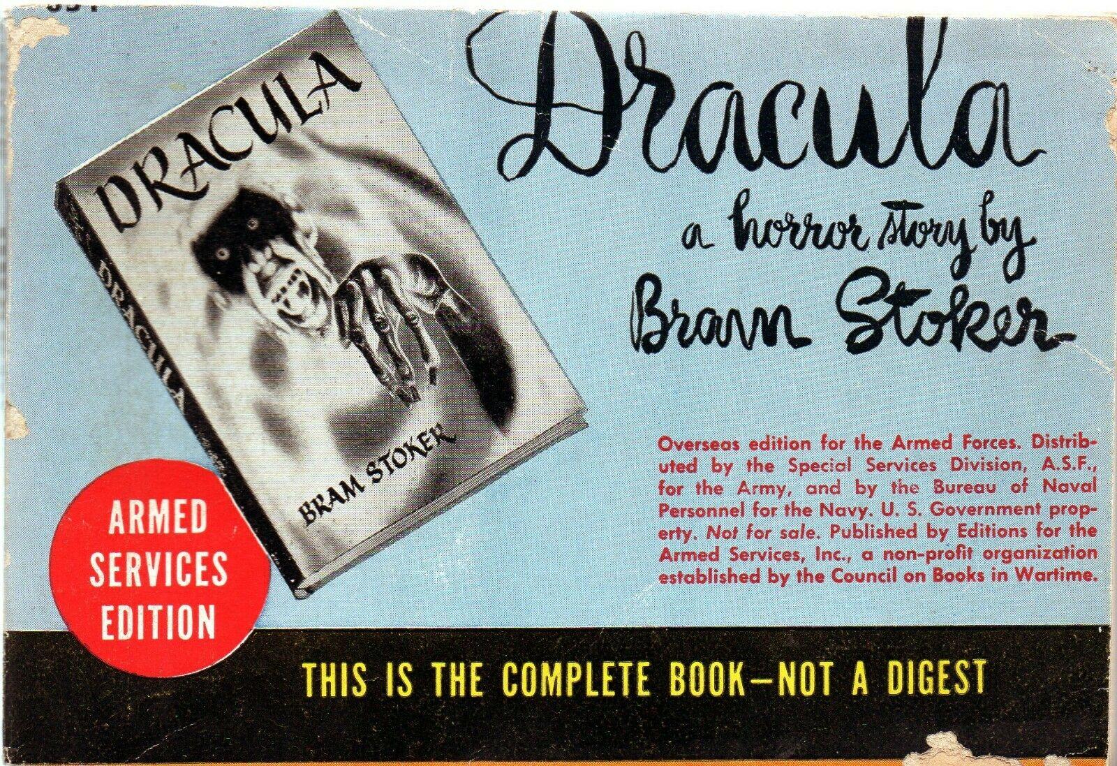 """E la cosiddetta """"edizione militare"""" di Dracula l'avevate mai vista?"""