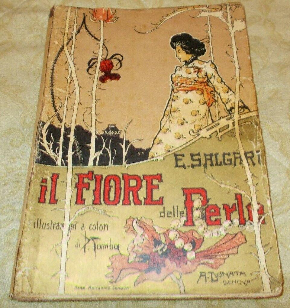 """In asta su eBay """"Il fiore delle perle"""" di Emilio Salgari (1° ed. brossura orig.)"""