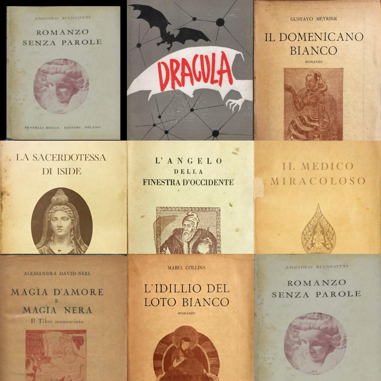 """Una strana storia: la collana """"romanzi occulti"""" di Dracula nata in guerra"""