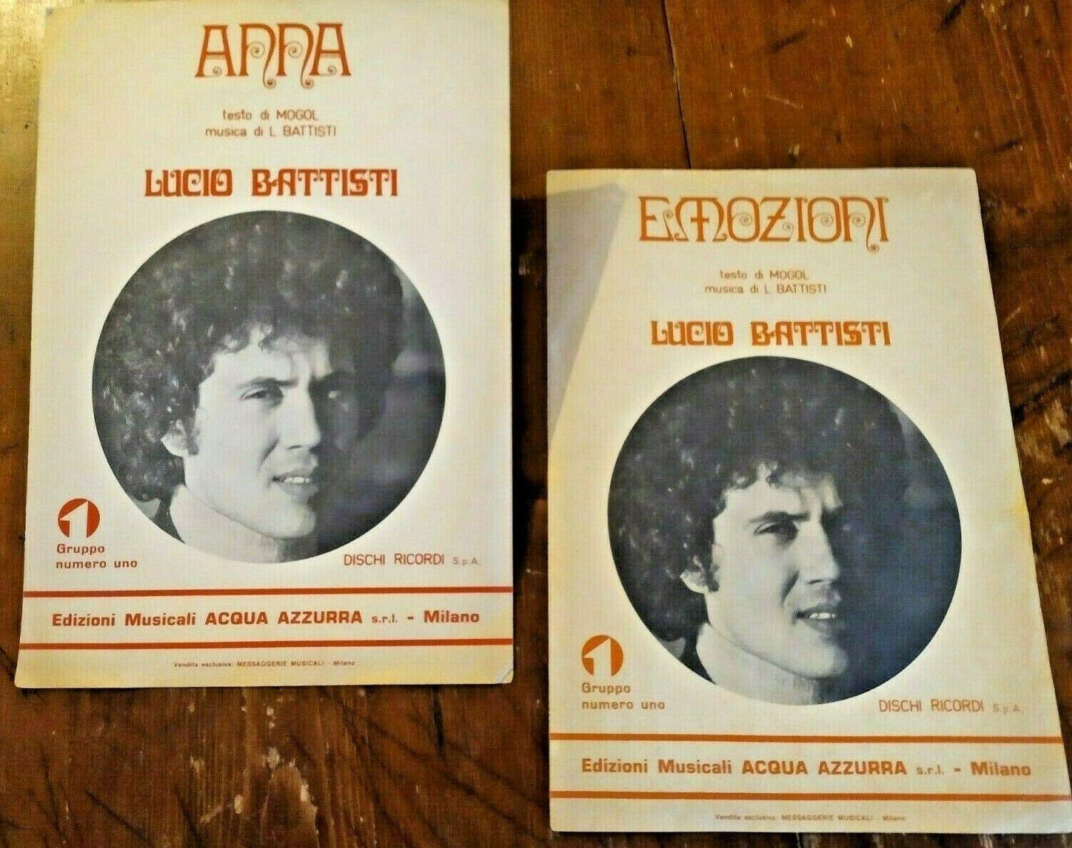 Spartiti originali di Lucio Battisti e Mogol su eBay