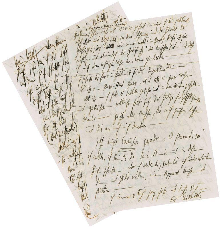 Una lettera semi-delirante dell'attore Klaus Kinski alla moglie in vendita in libreria