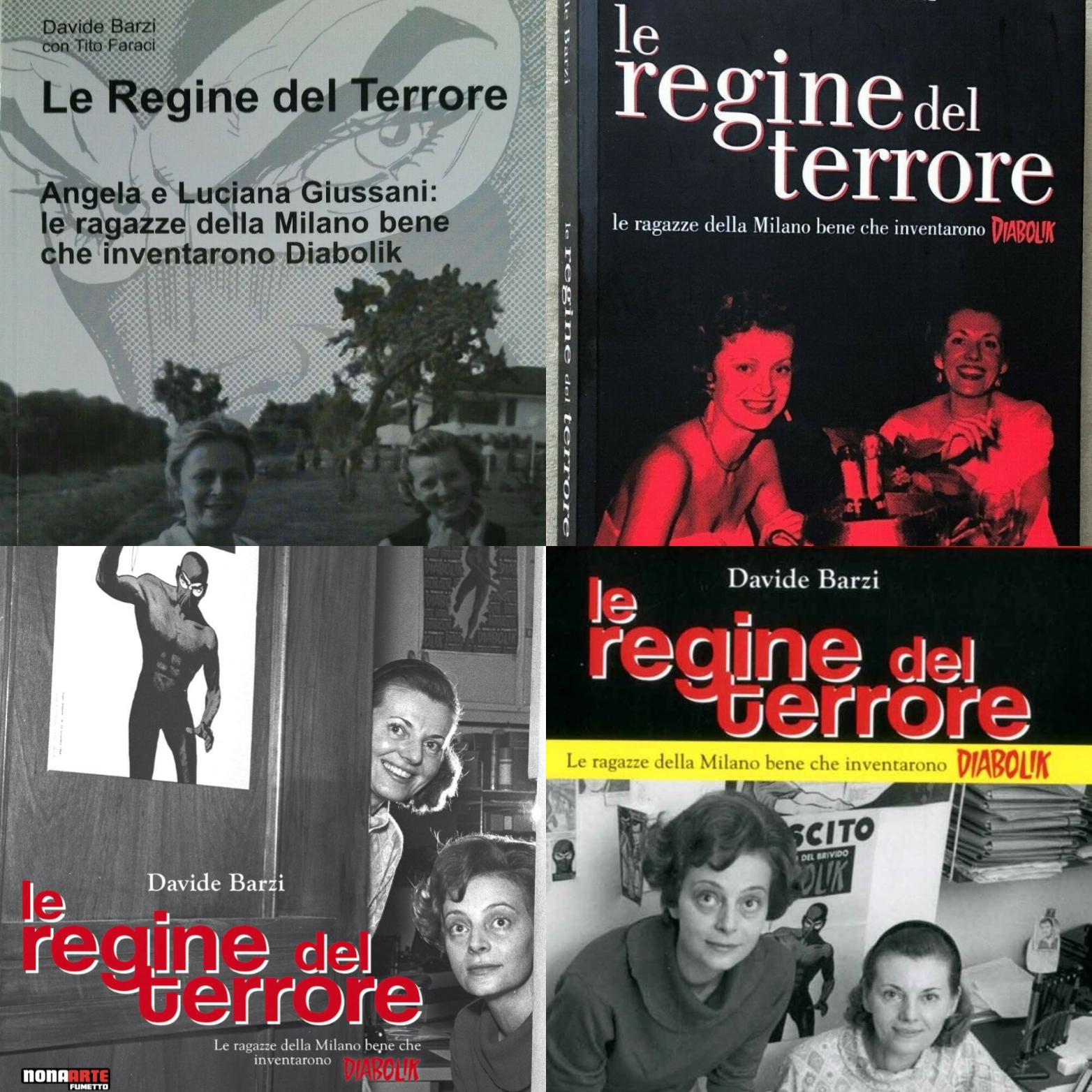 """Le quattro edizioni de """"Le regine del terrore"""": le sorelle Giussani e Diabolik"""