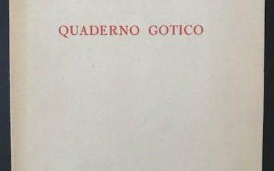 """""""Quaderno Gotico"""" (1947) di Mario Luzi: rara copia firmata in asta su Catawiki"""