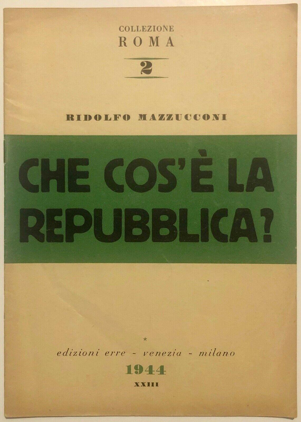 """""""Che cos'è la Repubblica?"""" di Ridolfo Mazzucconi: raro libro sulla RSI"""