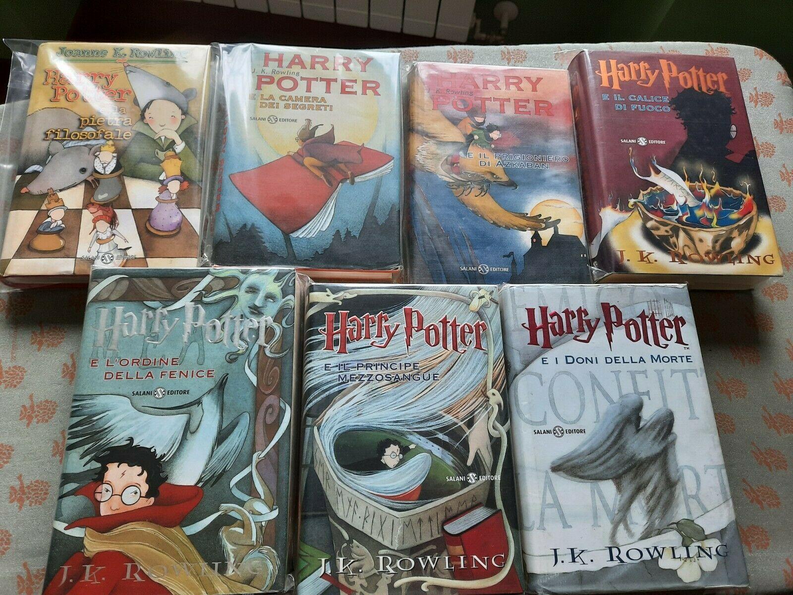 La collezione dei primi 7 Harry Potter su eBay