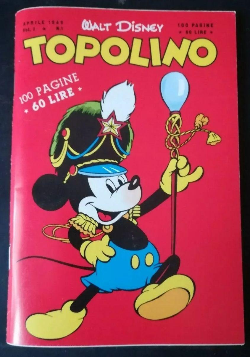 Fumetto Topolino n 1 aprile 1949. In asta 2,50€