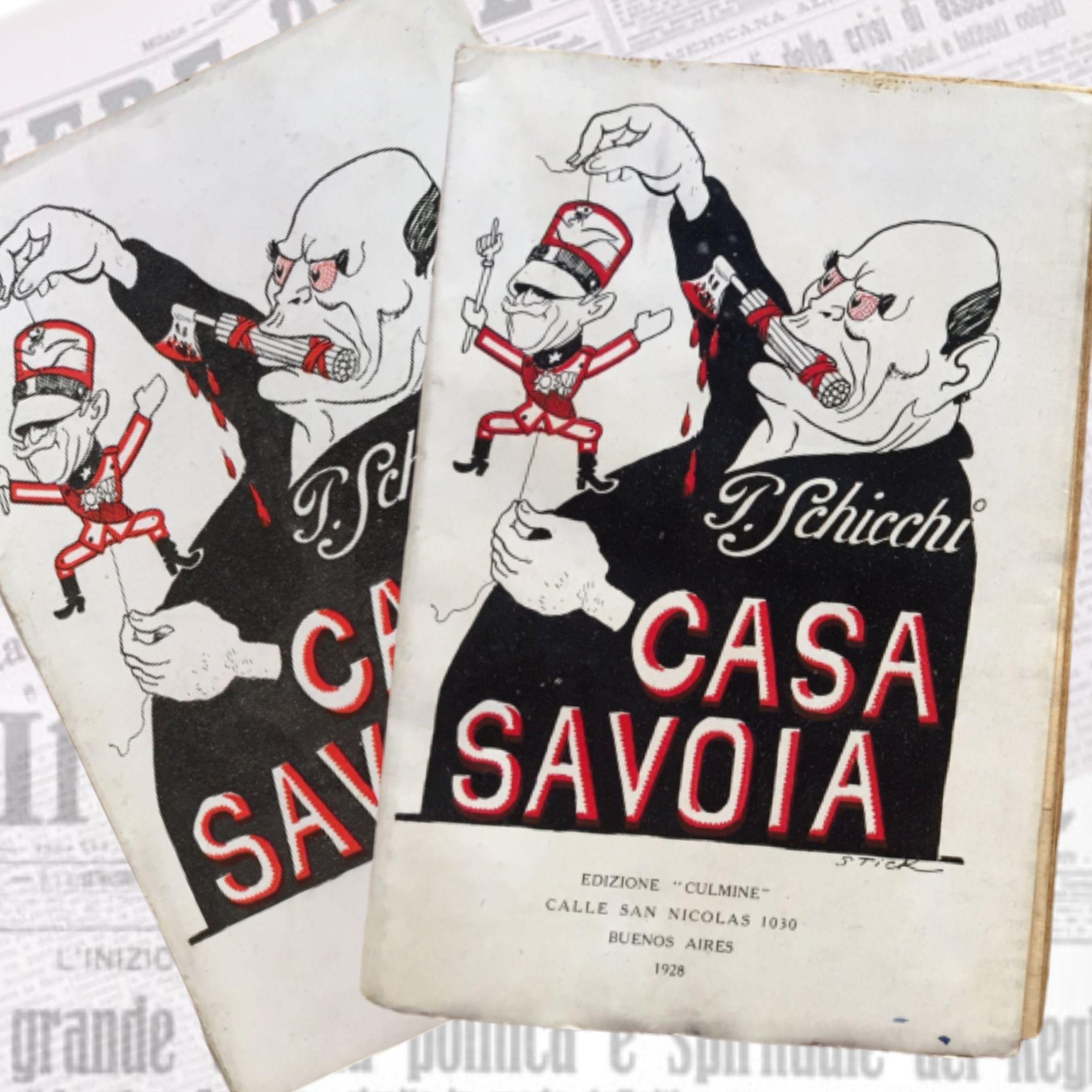 """I due introvabili volumi di """"Casa Savoia"""" di Paolo Schicchi"""