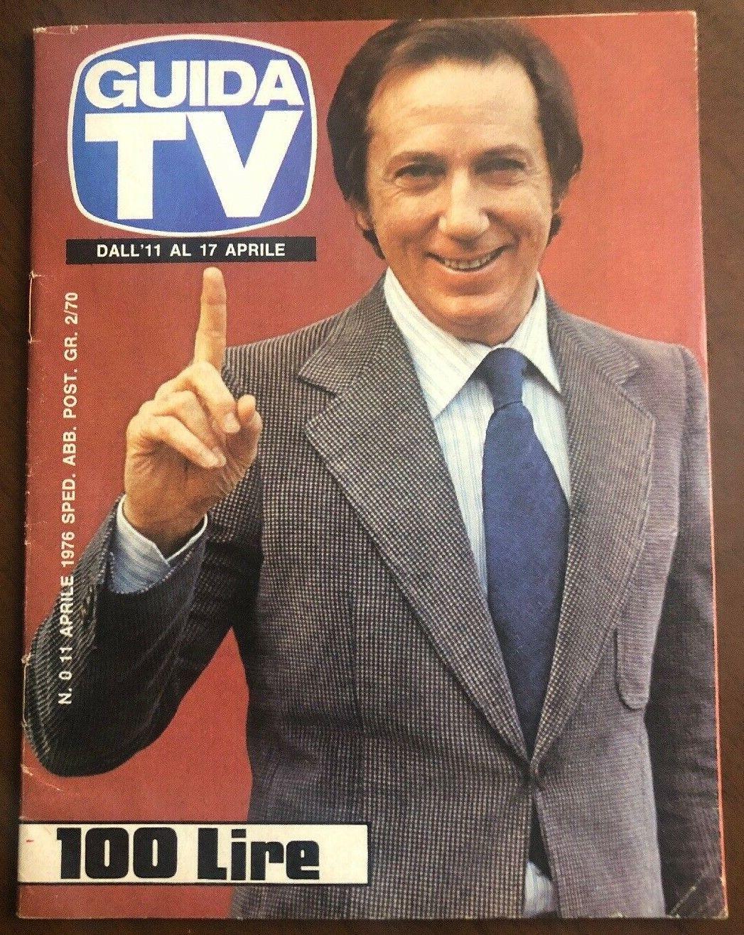 """Il """"numero zero"""" di Guida Tv (aprile 1976) in vendita a 850 € su eBay"""