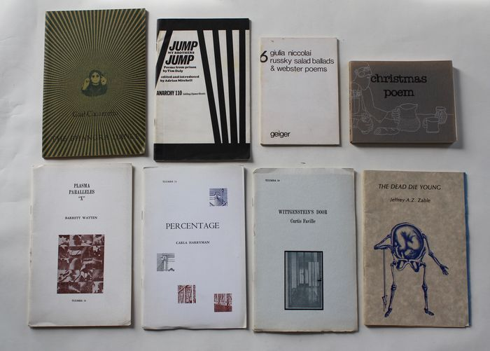 Lotto di 8 opere di poesia americana underground 1970-1980