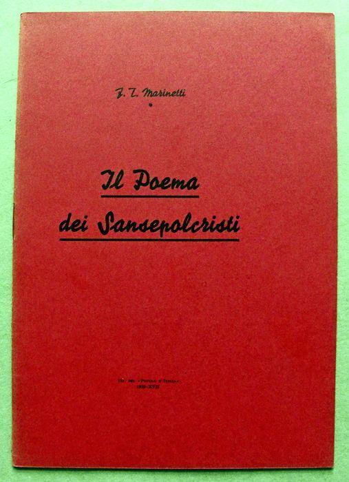 """""""Il poema dei Sansepolcristi"""" di F. T. Marinetti (1939) in asta su Catawiki"""