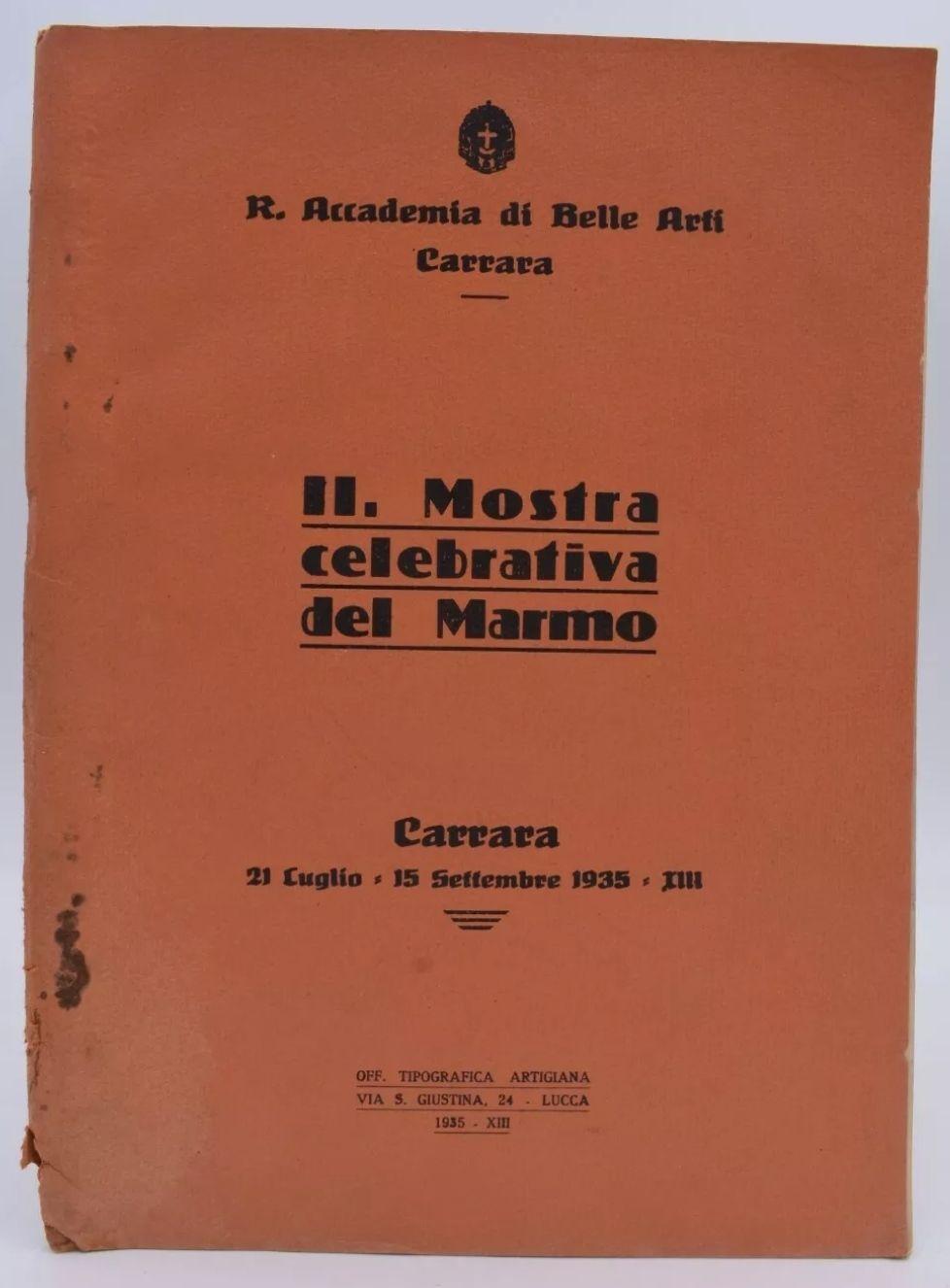 CARRARA 2a Mostra Celebrativa del MARMO 1935 Pubblicità Fotografie MOLTO RARO